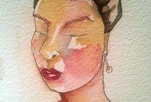 Watercolor on Paper by Yolanda Gonzalez
