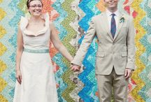 """Emma and Gerry's wedding quilt! / Could also be called """"Colours my house will be..."""""""