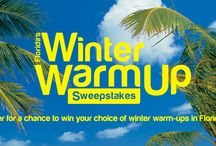 Winter Warm Up Sweepstakes / Enter for a chance to win your choice of winter warm-ups in Florida!  Get out of the cold and into the gorgeous Florida weather. / by VISIT FLORIDA