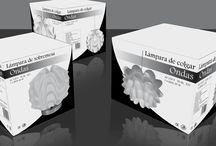 Packaging / Packaging de una lámpara a una tinta