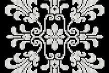 вышивка:монохром