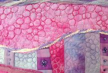 Stitched textiles / Lovely little snippets of stitched beauties - big stitches, small stitches, all lovely!