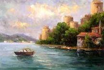 İstanbul yağlı boya tabloları