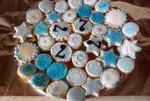 Cookies with blue icing