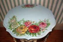 Inspiration to Paint / Hand Painted Roses...to inspire me to paint