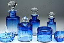 Antique & Vintage Glass: Dressing Table Bottles, Sets, Boxes, Pots, & Related / There is a huge variety of these wonderful dressing table and vanity pieces, great to collect and perfect gifts. The pieces on this board are all sold, but to see what is currently in stock, click the links on any item to visit my website or send me an email.