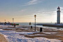 Winter in Hellevoetsluis / Bevroren dauwparels en witte winterdekens ...
