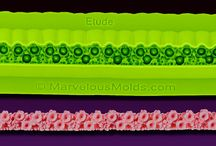 Royal Garden Mold Collection / Beautiful floral design silicone molds including borders, medallions and a panel. / by MarvelousMolds.com