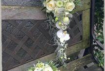 bruiloft bruidsboeket en corsage