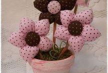 Vaso fiori stoffa