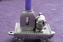 Birthday Candle Train / Pewter Baby Gifts
