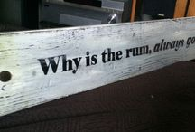 DIY Wooden Sign / signs on reclaimed wood