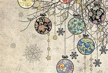 Pen and Ink Christmas designs