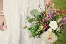 Jessica and Danny / Informal and natural.  Wildflowers in soft muted colours.