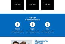 health insurance landing page design