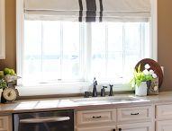 kitchen curtain ideas / by Rhonda Higgins