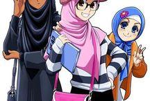 hijab muslimah anime