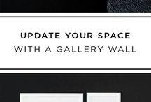 dark wall gallery