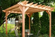 Garden Structures / Pergolas, fences, gates,gazebos, swings, sheds, walls, walks, patios and other structures in the garden. Inspirations, plans, tips, and DIY instruction.