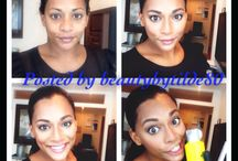 Today's makeup look / My own makeup looks. Before and after