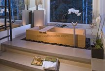 Traditional soaking tubs.  Japanese Ofuro bathtubs. / Examples of the many tubs made by Zen Bathworks.