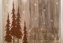 Schilderen op hout en canvas