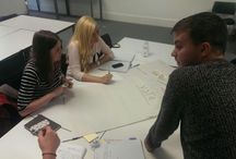Work In Progress / Some in-action shots of the group and some of the learning from our #DSMMCM1415 unit!