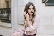Бордо и розовый