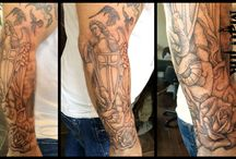 St-Micheal / St Micheal tattoo, on arm br Mad Ink