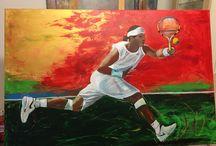 Tennis spelare tavlor