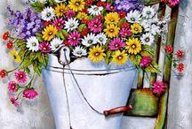 Stella Bruwer художник иллюстратор / Stella Bruwer родилась в 1964 году в Уолфиш-Бей, Намибия.Stella выросла на ферме, благодаря этому сложился ее уникальный характер.С юности она впитала все звуки и запахи своей любимой фермы, научилась признательности и любви к тому что ее окружает. Именно любовью к природе пронизаны все ее работы