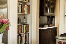 Biblioteca na cozinha