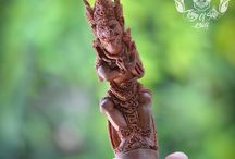 Rare Detail Hand Carved Kris Handle Knife Sword Sapodilla Wood Hanoman Legend