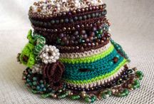 Crocheted or knitted cuffs