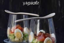 ensalada de salmon en vaso