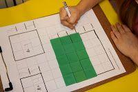 Preschool math - skip count and area