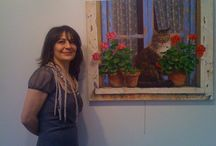 Турецкая художница Fusun Urkun / Кошки и окошки
