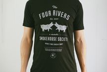 4 Rivers 2015 Spring T-Shirt Line / Our new Spring line of shirts is now available for $15 at all 4 Rivers locations and on our website!   www.4rsmokehouse.com/store