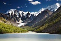 landscapes, mountains, paradise, rainbows, nature / krajiny, hory, ráj, duhy, příroda.