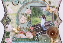 Scrapbook Floral Collage