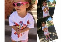 T-shirts for kids / Painted T-shirts with the name of your child