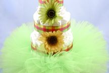 Diaper Cake Ideas / For boys or girls, these are precious for baby showers.