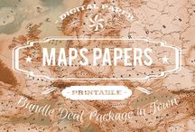 MAPS PATTERNS / DIGITAL PAPERS - MAPS PATTERNS BY DIGITAL PAPER SHOP