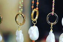 Necklace / Collane in argento, pietre dure e perle