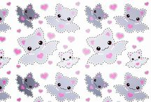 cute kawaii patterns