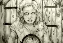 The Walking Dead Graphite Pencil Drawings