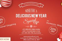 GujaratFood Offers Special New Year Discounts / GujaratFood.com, an Indian snacks online shopping portal comes up with special shipping discounts for its beloved customers. To order, visit www.gujaratfood.com