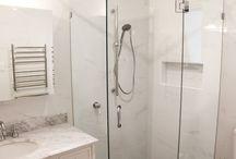 Carrara Marble White Bathrooms