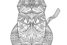 Adult Coloring Pages for Pet Lovers / Print and color pictures of pets and other animals!