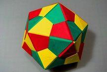 origami mértani testek